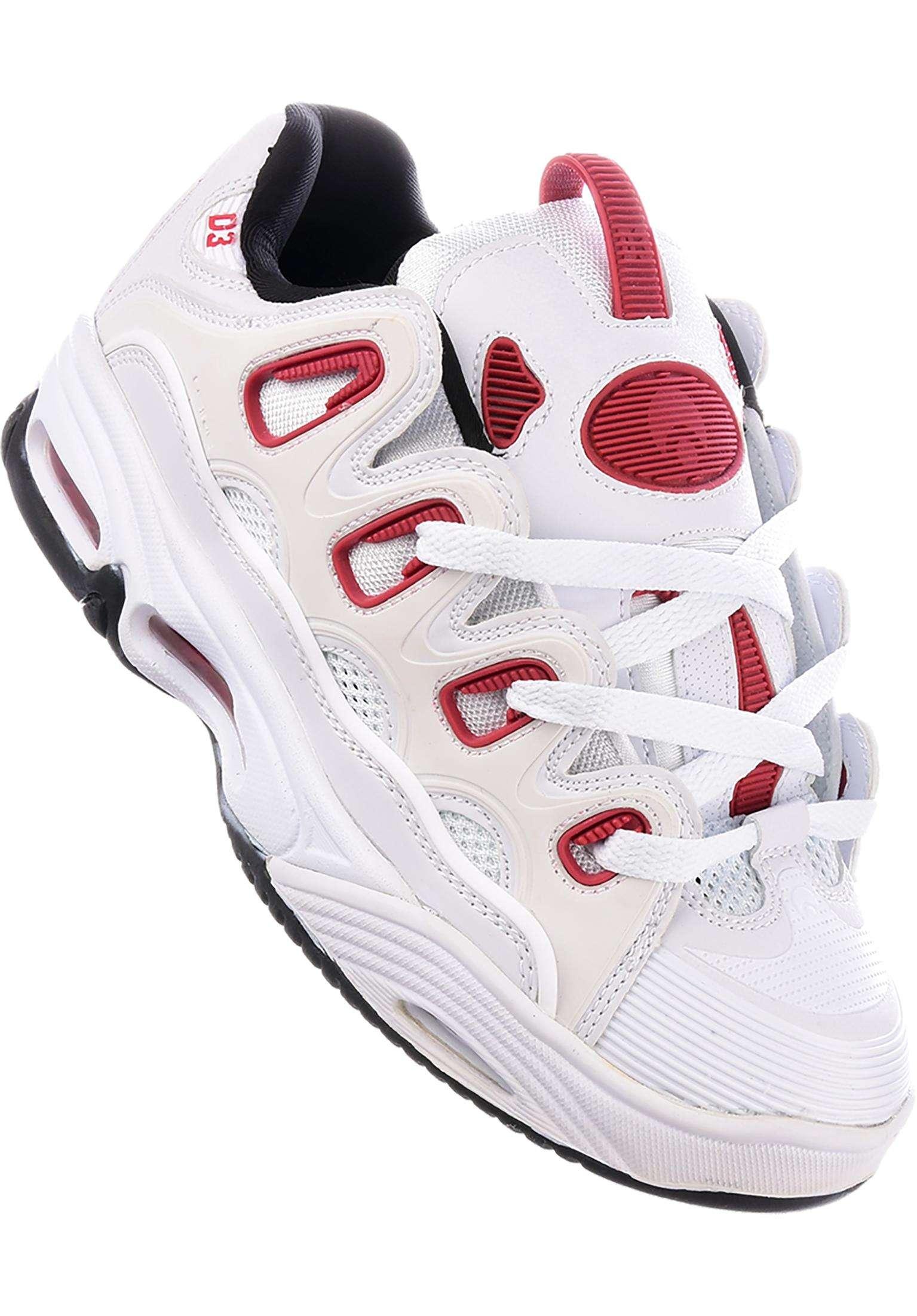 D3 2001 Osiris Tutte le scarpe in white-red-black da Uomo  3604c54f791