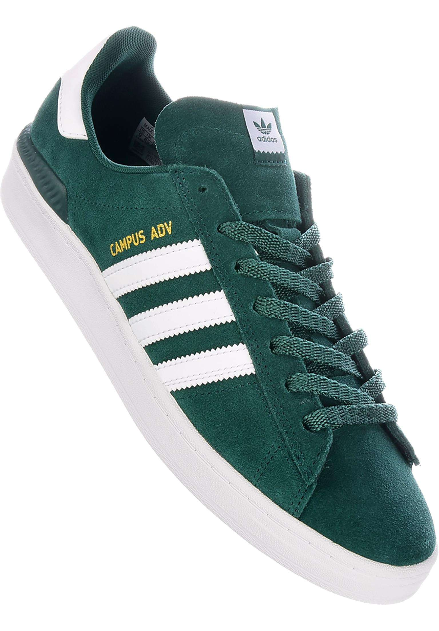 timeless design 807ff 9b697 Campus ADV adidas-skateboarding All Shoes in green-white-gold for Men    Titus