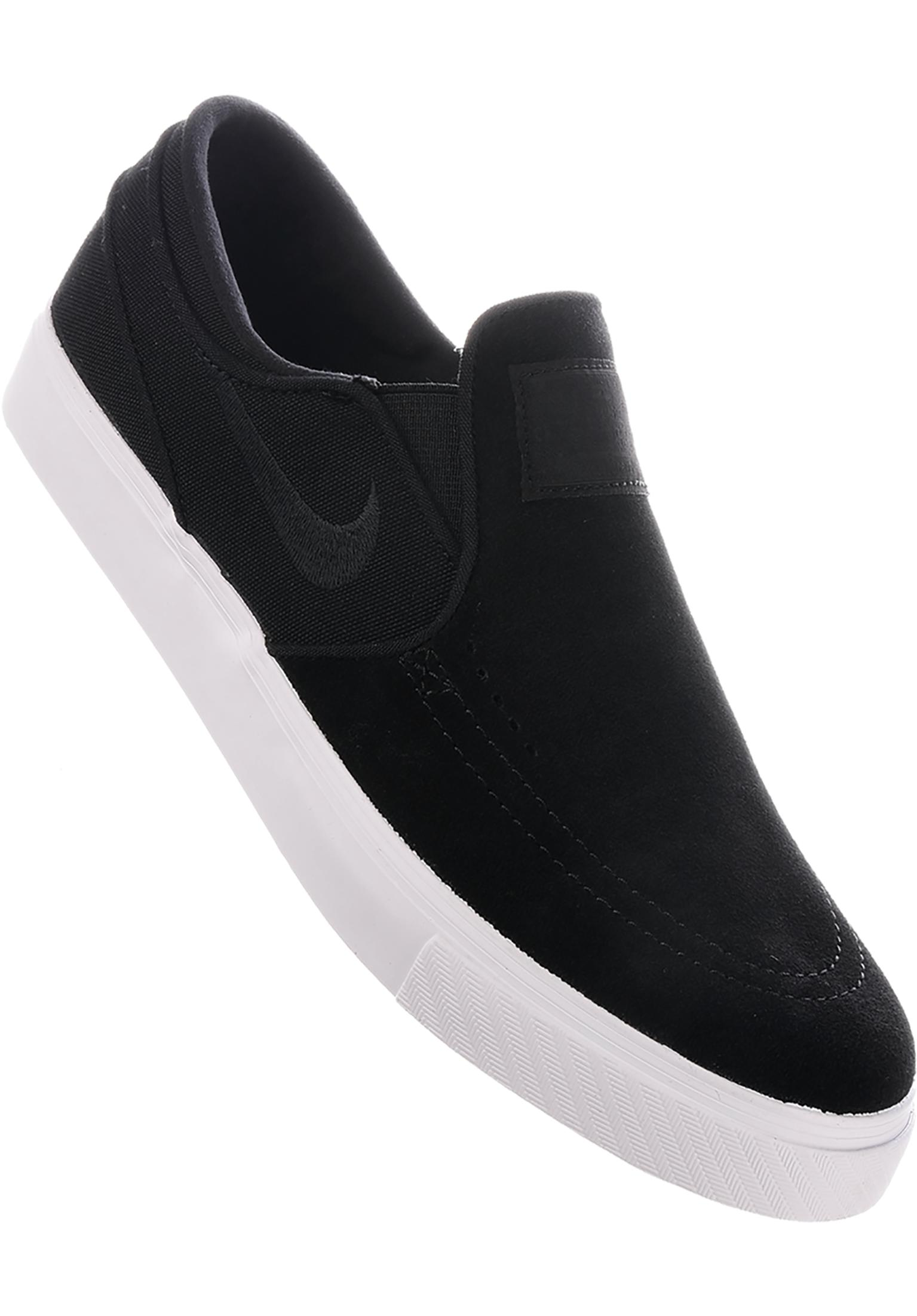2e51d0e4cbd8a Zoom Stefan Janoski Slip On Nike SB All Shoes in black-black-white for Men    Titus