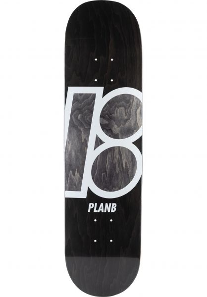 Plan-B Skateboard Decks Team Stained black vorderansicht 0117967