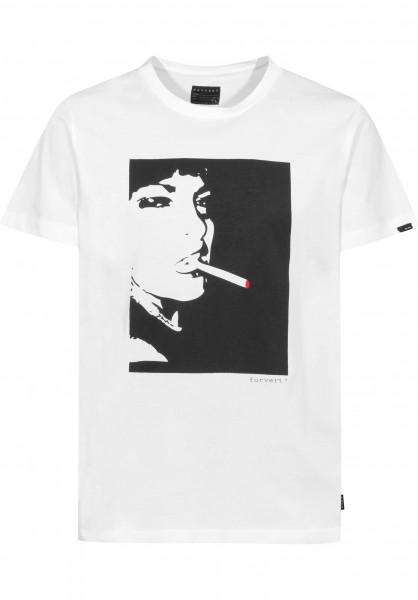 Forvert T-Shirts Easy-Leasing white Vorderansicht