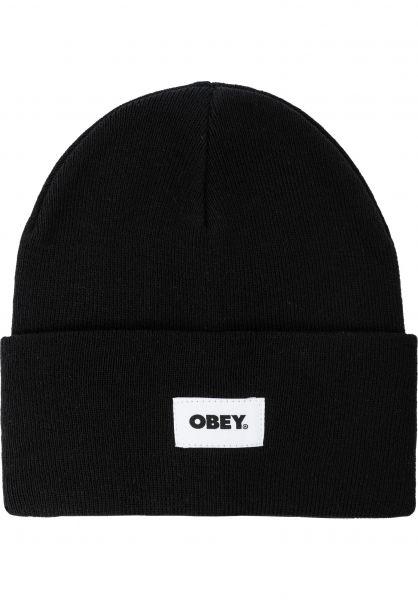 OBEY Mützen Bold Label Organic Beanie black vorderansicht 0572572