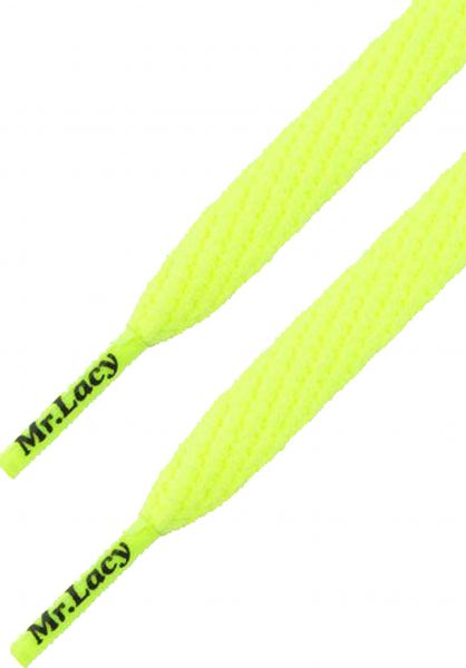 Mr. Lacy Schnürsenkel Smallies neonlime-yellow vorderansicht 0640005