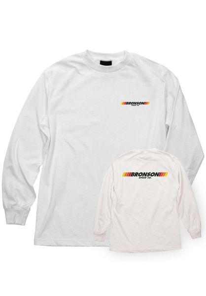 Bronson Speed Co. Longsleeves Stripes white vorderansicht 0383521