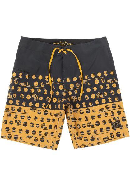 Dark Seas Beachwear Barlowe black-gold vorderansicht 0205349