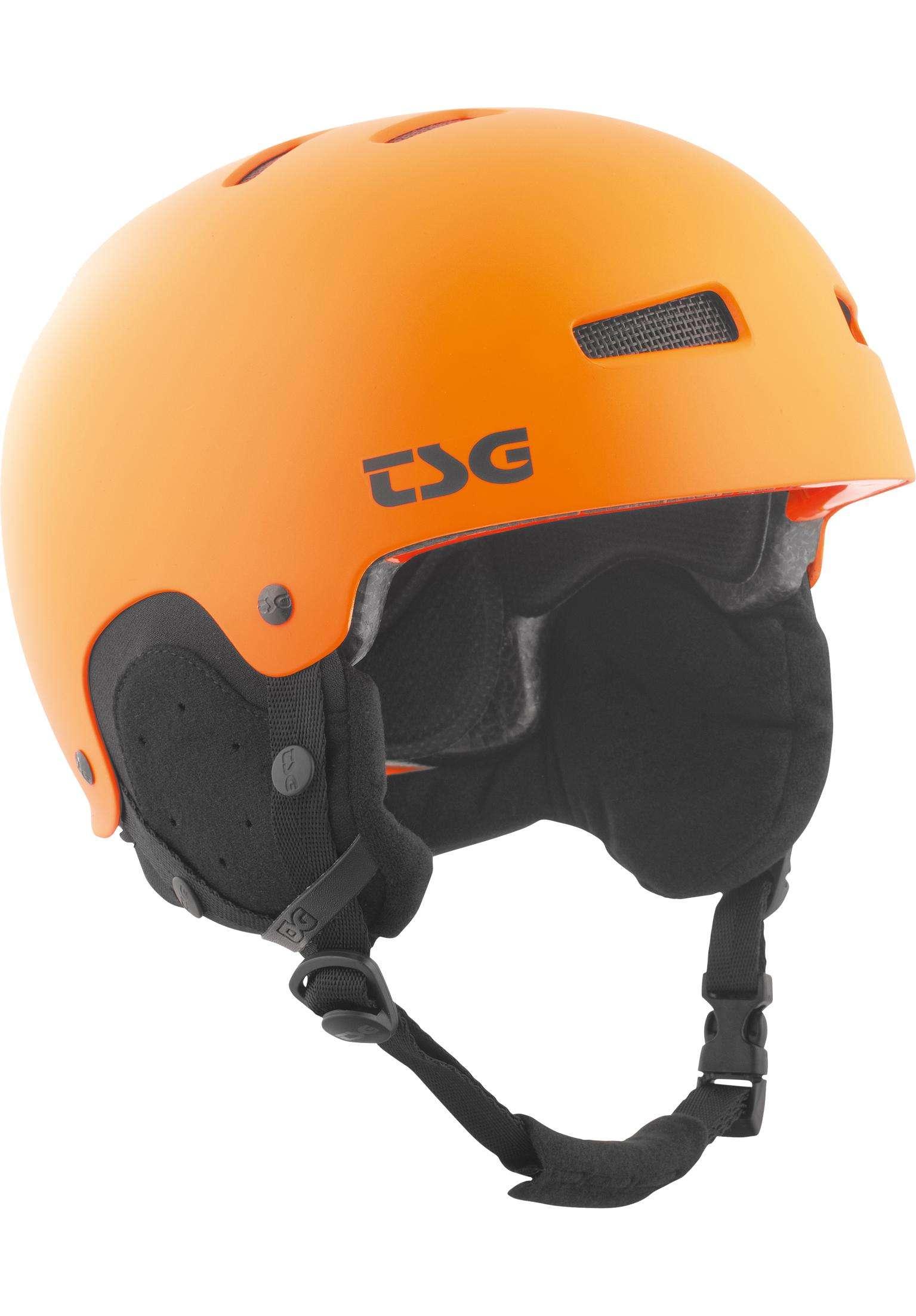 6c4599a0cb8e2 Gravity Solid Color TSG Snowboard Helmets in satin orange