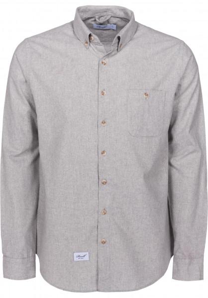 Reell Hemden langarm Brushed Shirt grey Vorderansicht