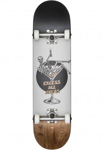 Globe Skateboard komplett Excess white-brown Vorderansicht