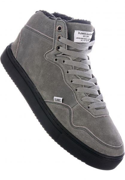Djinns Alle Schuhe Highwaik Fur grey-black vorderansicht 0604493