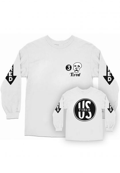 Tired Longsleeves Sad and Tired white vorderansicht 0383156