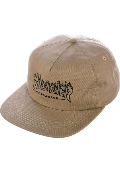 Thrasher Caps Witch Snapback tan vorderansicht 0566040