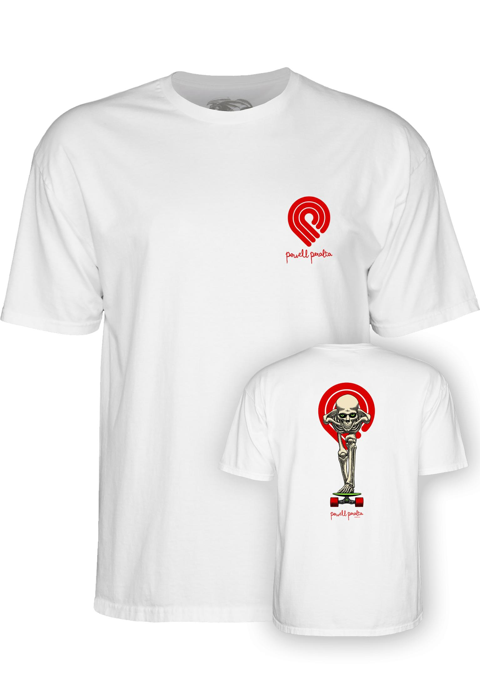 8ede08d4a Tucking Skeleton Powell-Peralta T-Shirts in white for Men   Titus