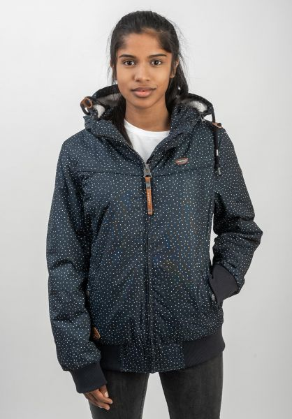 Ragwear Winterjacken Jotty Drop navy vorderansicht 0250085