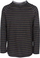 Reell Longsleeves Striped navy-olive Vorderansicht