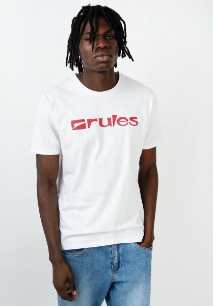 Rules T-Shirts Basic white-red vorderansicht 0365205