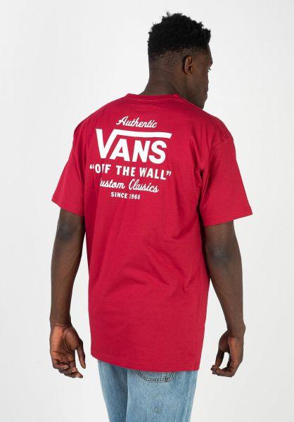 Vans T-Shirts Holder Street Classic cardinal vorderansicht 0321819