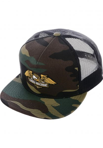 Loser-Machine Caps Wings Trucker camo vorderansicht 0565367
