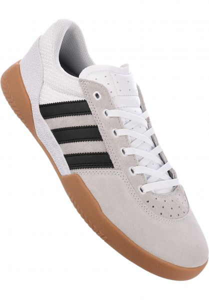 hot sale online d55dc 78a31 adidas-skateboarding Alle Schuhe City Cup white-black-gum Vorderansicht