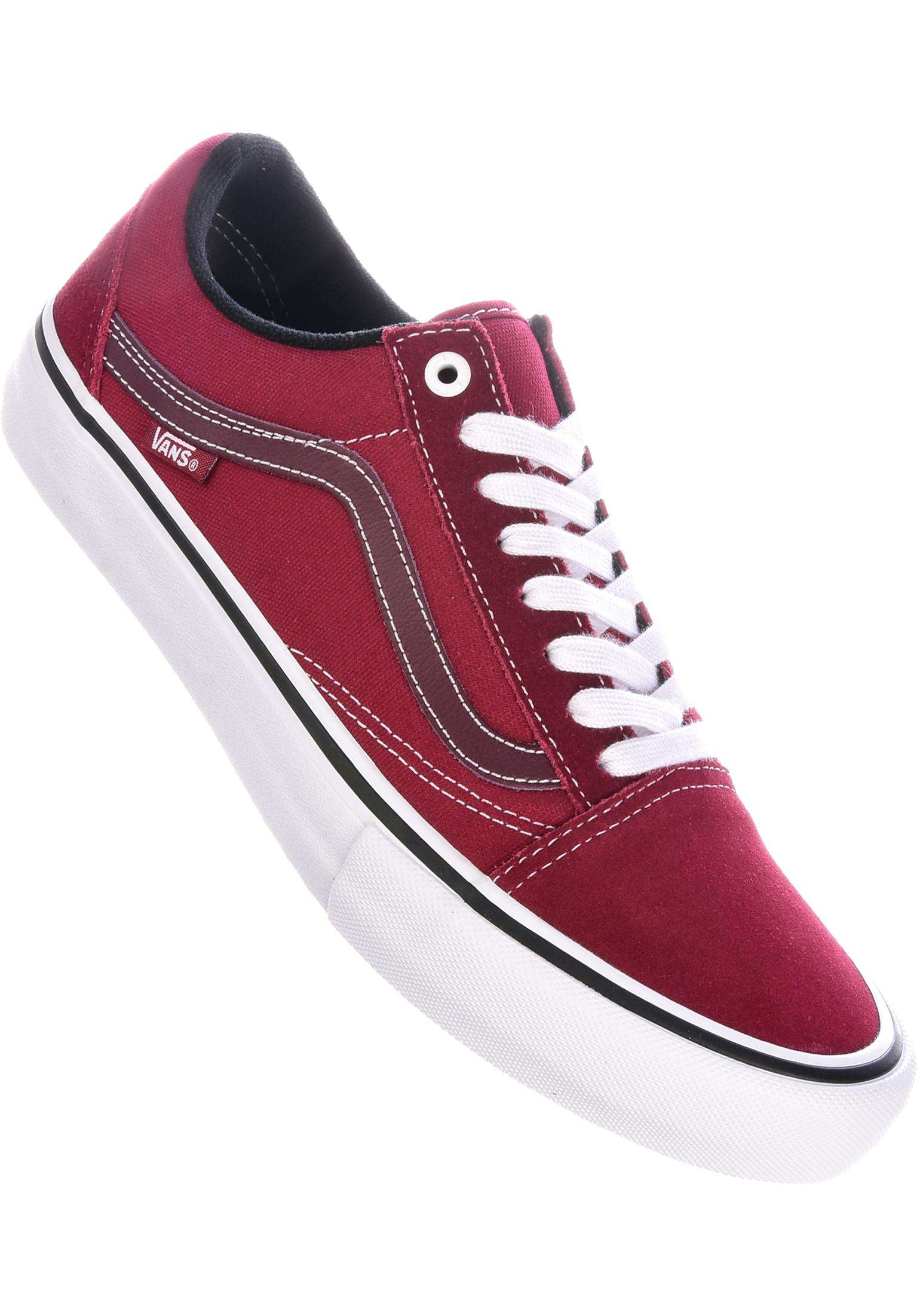 3cfd9f00b6 Old Skool Pro Vans All Shoes in rumbared-truewhite for Men