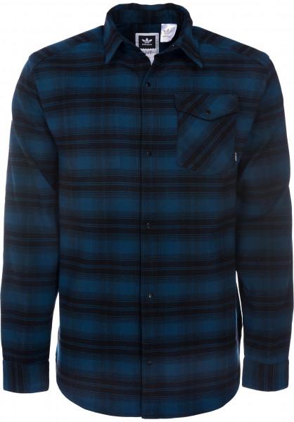 adidas-skateboarding Hemden langarm Stretch Flannel bluenight Vorderansicht