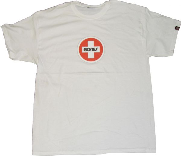 Bones Bearings T-Shirts Swiss-Circle white Vorderansicht