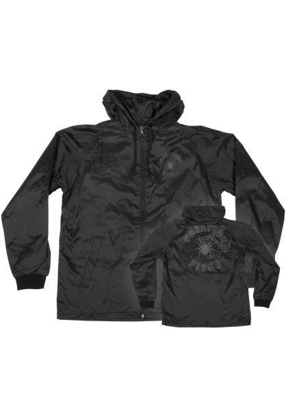 Creature Übergangsjacken Web Hooded Windbreaker black vorderansicht 0504570