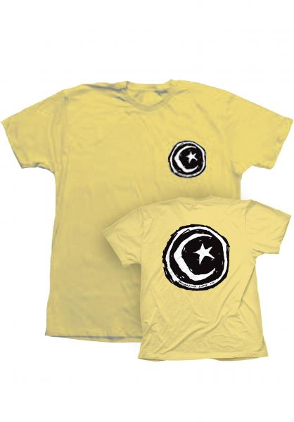 Foundation T-Shirts Star & Moon banana vorderansicht 0393474