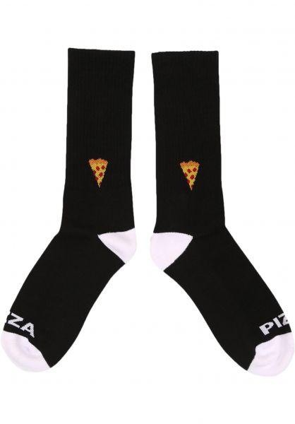 Pizza Skateboards Socken Emoji black vorderansicht 0632119