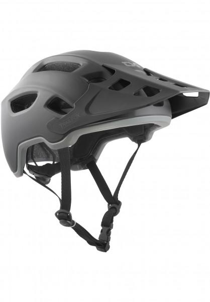 TSG Helme Trailfox Solid Color III satin-black Vorderansicht