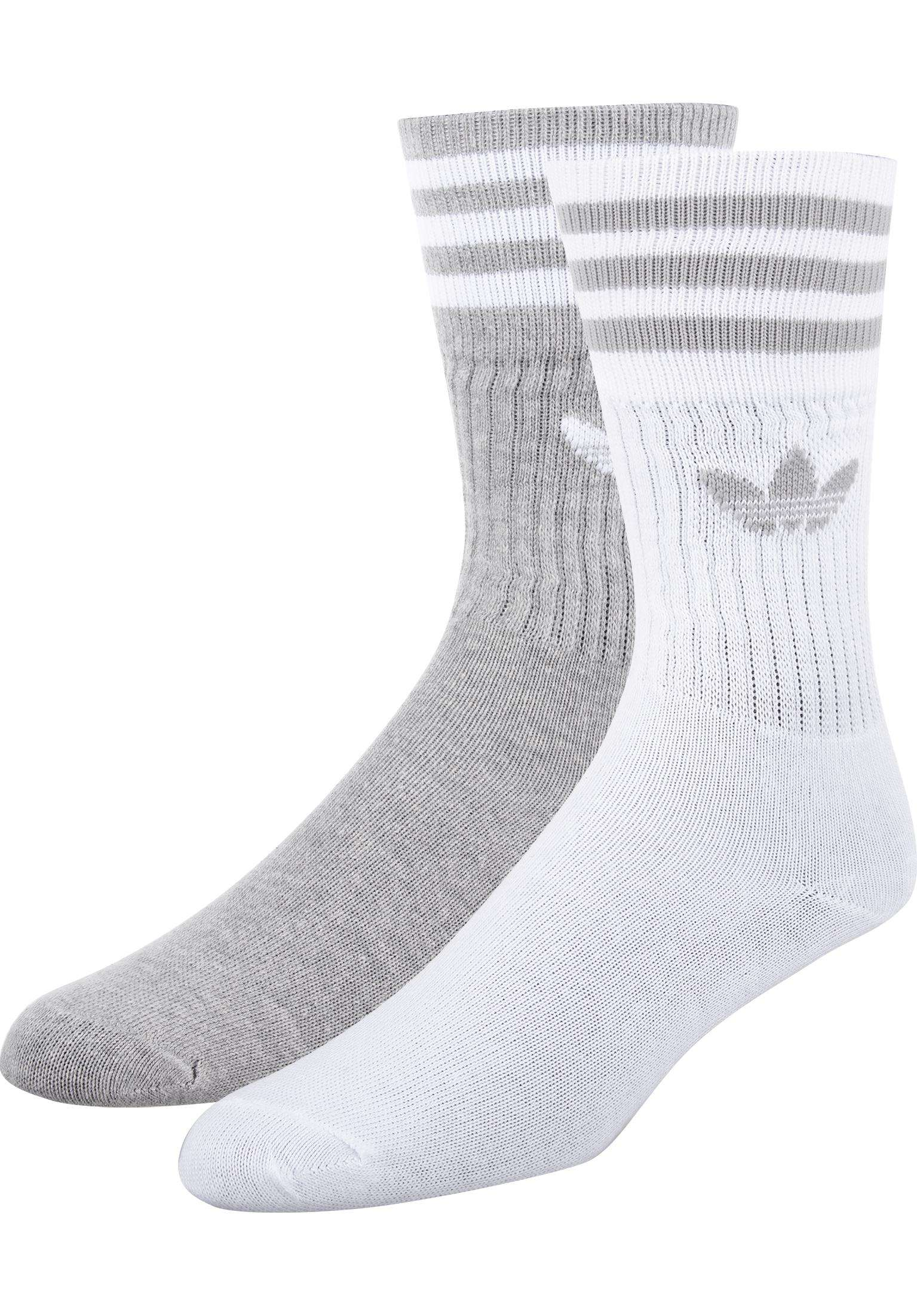 Solid Crew 2 Pack adidas Socks in heather for Women  5d83cd9b9
