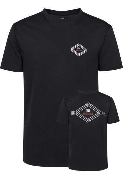 TITUS T-Shirts Diamond Backprint black Vorderansicht