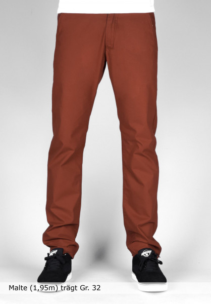 Reell Chinos und Stoffhosen Grip Tapered burned-orange Vorderansicht