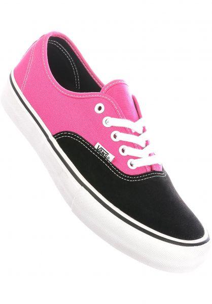 Vans Alle Schuhe Authentic Pro black-magenta vorderansicht 0604136