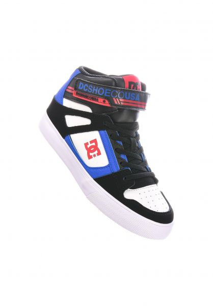 DC Shoes Alle Schuhe Pure High EV Kids black-white-royal vorderansicht 0216078