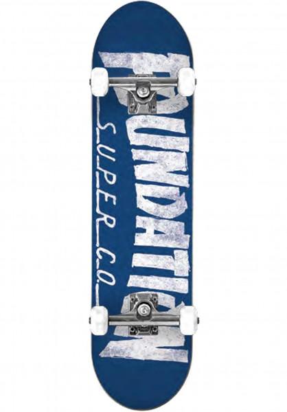 Foundation Skateboard komplett Thrasher blue Vorderansicht