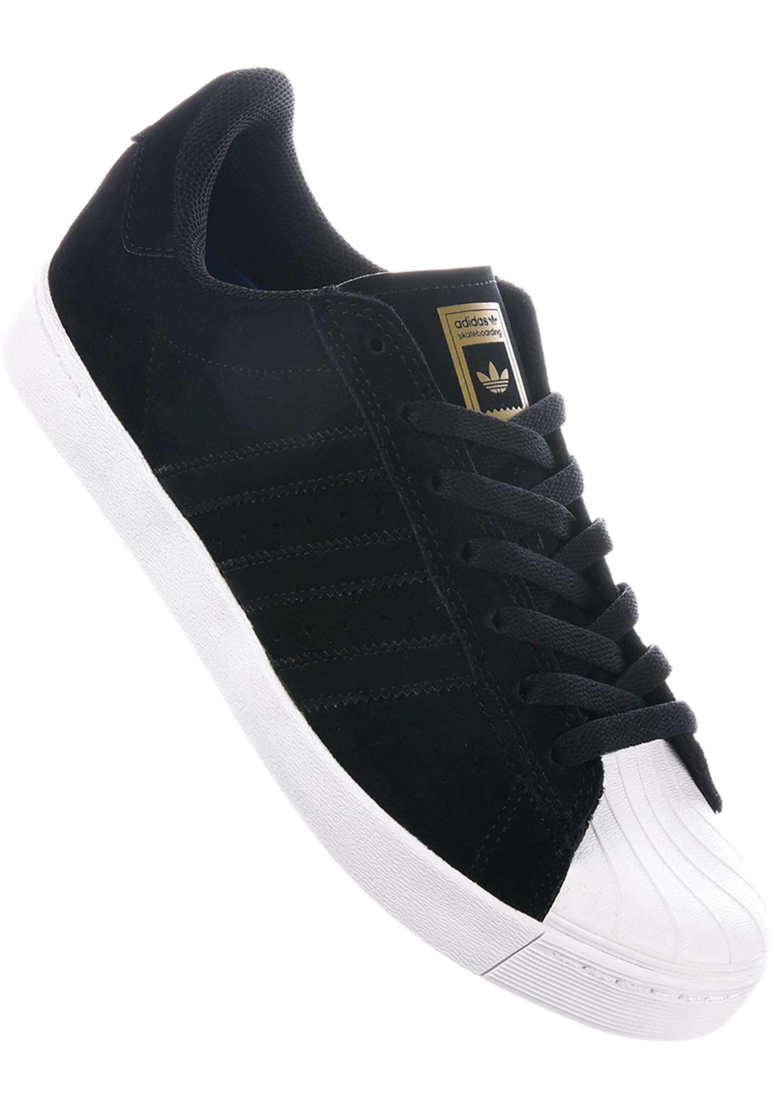 Adidas Superstar Vulc ADV core schwarz Weiß Weiß Weiß Gold
