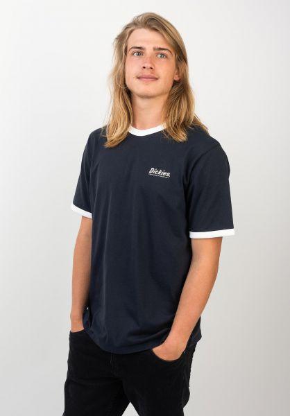 Dickies T-Shirts Barksdale navy vorderansicht 0397358