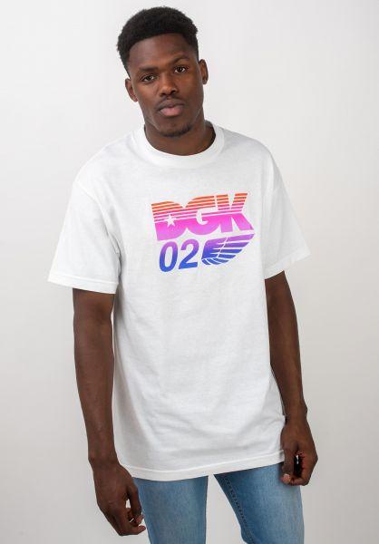 DGK T-Shirts Hustle Crew white vorderansicht 0320516