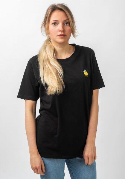 Cleptomanicx T-Shirts Zitrone black vorderansicht 0321092