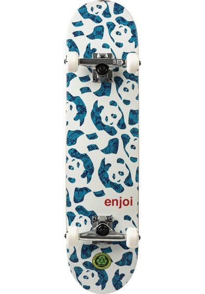Enjoi Skateboard komplett Repeater white vorderansicht 0162042