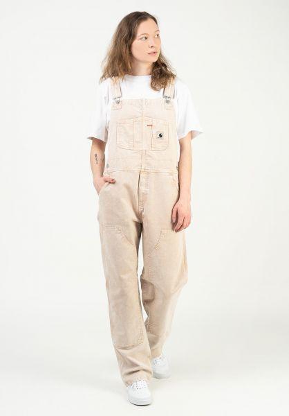 Carhartt WIP Latzhosen / Overalls W´ Sonora dustyhbrown-wornwashed vorderansicht 0294007