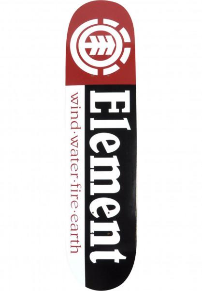 Element Skateboard Decks Section black-white-red Vorderansicht