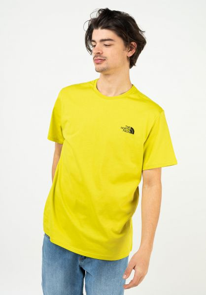 The North Face T-Shirts Simple Dome citronellegreen vorderansicht 0321496