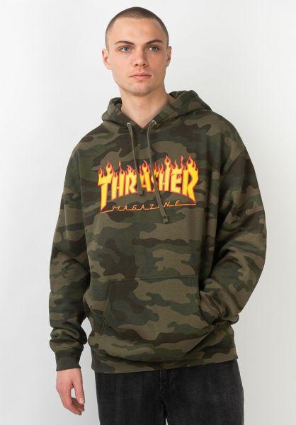 Thrasher Hoodies Flame Camo forest camo vorderansicht 0445603