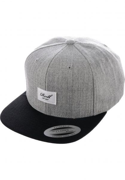Reell Caps Pitchout 6-Panel grey-black vorderansicht 0564483