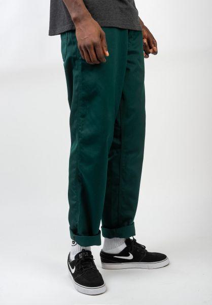 Carhartt WIP Chinos und Stoffhosen Simple Pant darkfirrinsed vorderansicht 0204010