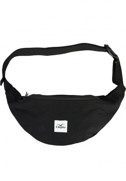 Cleptomanicx Hip-Bags C.I. Patch black vorderansicht 0169032