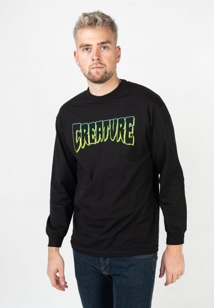 Creature Longsleeves Logo Outline black vorderansicht 0383087
