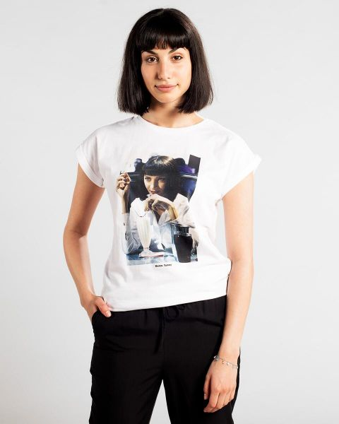 Dedicated T-Shirts Mmmm Yummy white vorderansicht 0321065