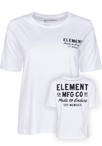 Element T-Shirts Made to Endure CR white Vorderansicht 0398301